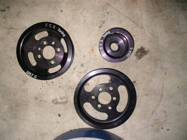Lightened Serpentine pulleys.JPG